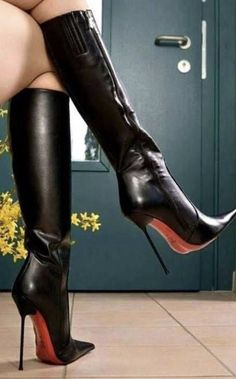 Black High Boots, High Leather Boots, Thigh High Boots, High Heel Boots, Heeled Boots, Super High Heels, Hot High Heels, Womens High Heels, Extreme High Heels