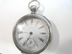 Antique Elgin 1884 Key Wind Key Set Pocket Watch 17 Jewel 18 Size by KayesVintageJewelry on Etsy