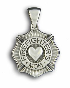 Firefighter's Mom Sterling Silver  Pendant
