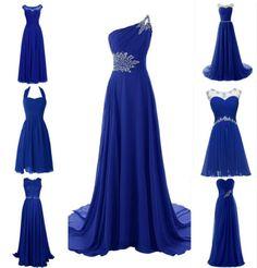 Royal-Blue-Lace-Chiffon-Bridesmaid-Wedding-Evening-Plus-Size-Long-Short-Dresses