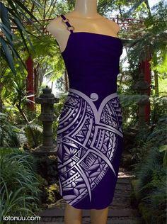 Beautiful samoan dress. Modern puletasi. Lotonuu.com