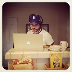 LA working #virtualteam #dodgers