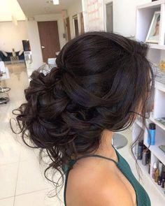Loose Curls Updo Wedding Hairstyle | Hairgasms | Pinterest | Low ...