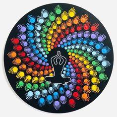 7 Chakras, Dot Art Painting, Mandala Painting, Cores Do Chakra, Buddha Art, Mandala Dots, Serenity, Dream Catcher, Deco