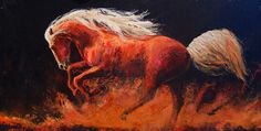 Fire Ride  oil 24 x 48 Ritch Gaiti www.Gaiti.com