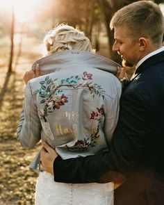 Hottest Trend 2020/2021: 18 Wedding Jackets ❤ wedding jackets leather with signatures fall country marissa merrill #weddingforward #wedding #bride