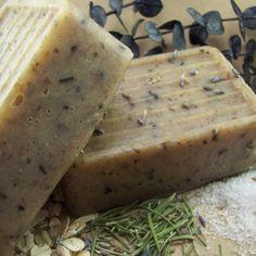 Handmade Soap Tea Tree Rosemary and Aloe Vera Soap Cold Process | blackberrythyme - Bath & Beauty on ArtFire