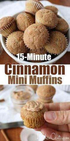 Cinnamon Sugar Muffins, Cinnamon Recipes, Kid Muffins, Breakfast Muffins, Baking Muffins, Paleo Breakfast, Breakfast Recipes, Dinner Recipes, Churros