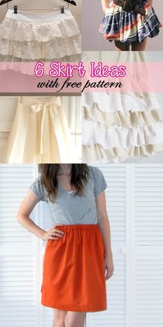 easy skirt sewing tutorials | sewing for beginners | girls skirt tutorial | skater skirt tutorial
