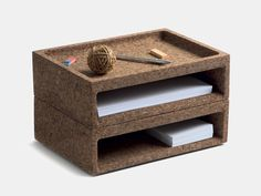 AUERBERG – CORK BOX  accessories, cork, box, storage,  stationary, auerberg  Stackable, multi-purpose, eco-friendly. For indoors or outdors usage.  Cork box is made in natural toasted cork agglomerate.