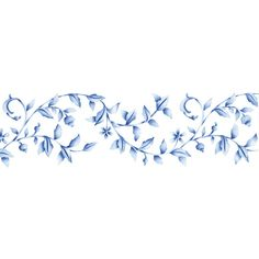 Would be cute around the floor of a room. Border Stencils | Floral Embroidery Stencil | Royal Design Studio