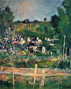 Paul Cezanne, View of Auvers, 1873.  Art Experience NYC  www.artexperiencenyc.com/social_login/?utm_source=pinterest_medium=pins_content=pinterest_pins_campaign=pinterest_initial