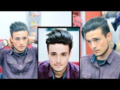Mens Hair: Modern Slick Back - Faded Undercut | Haircut and Style - YouTube