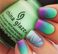 Rocking festival inspired nails are a must for summer!