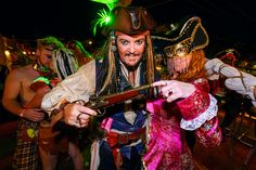 Pirate couple at Fantasy Fest in Key West