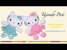 Hello Kitty tejida a crochet (amigurumi) Parte 4: piernas - YouTube