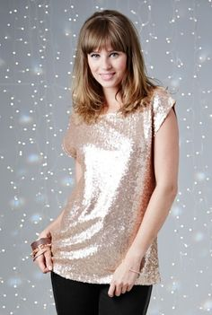 Sequin Front Jersey Top for Tall Women | Long Tall Sally USA
