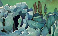Patrol of Himalayas - Nicholas Roerich  1925
