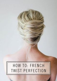 French Twist Perfection.