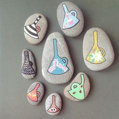 Sen onu benim hunime anlat :P #stonepainting #taşboyama #çakıltaşı #birthday #gift #rocks #pebbleart #pierres #posca #DIY #stoneart #gardening