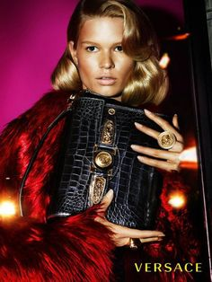 Versace Fall 2014 Campaign Preview - Anna Ewers & Stella Tennant