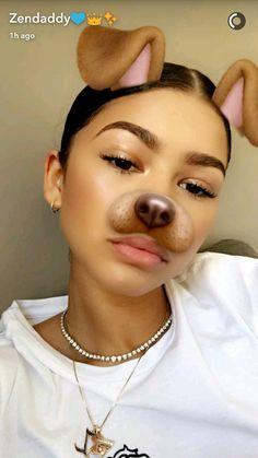 Zendaya on snapchat