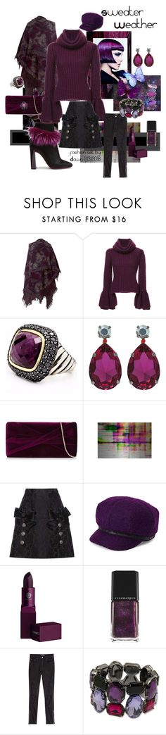 """Eggplant on Ice"" by dawn-lindenberg ❤ liked on Polyvore featuring Alejandra Alonso Rojas, Brandon Maxwell, David Yurman, L K, Reiss, Parvez Taj, Dolce&Gabbana, Laura Geller, deLux and Lipstick Queen"