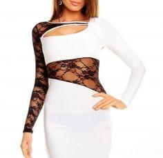 White Women Clubbing Lace Dress Asymmetric Mash Insert Cutout Mini Dress White Women, Clubwear, Lace Dress, Party Dress, Mini, Hot, Dresses, Fashion, Vestidos