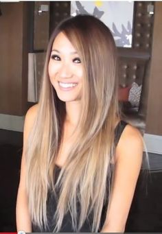 balayage ombre high contrast