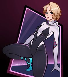 The character(s) belongs to Marvel, Spider Man's creator. I love Spider Gwen Marvel Girls, Comics Girls, Marvel Art, Marvel Avengers, Gwen Spiderman, Marvel Spider Gwen, Spider Girl, Gwen Stacy, Spider Verse