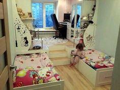 Alan Tasarruflu Çocuk Odası Dekorasyonu