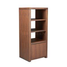 装饰柜/箱 黑钛不锈钢+胡桃木贴皮 W560*D450*H1260 mm