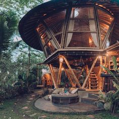 Studio WNA is an architecture consultant in Bali Indonesia. This consultant is not only focus in architecture design, but also in product design and interior Architecture Design, Bamboo Architecture, Jungle House, Forest House, Tiny House Cabin, Cabin Homes, Bamboo House Design, Bamboo Building, Tiny Houses For Rent