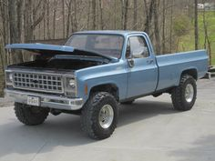 The old blue truck, it's a legend!! 1980 3/4 ton Custom Deluxe 4 Speed Chevy