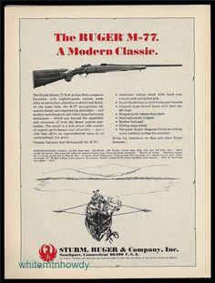 1969 RUGER M-77 Bolt Action Rifle Vintage Gun AD : Other Collectibles at GunBroker.com