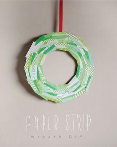 Corona de papel, muy fácil de hacer...