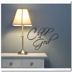 CHILD OF GOD  Vinyl Wall Lettering Words Decor by itwaddle on Etsy, $15.95