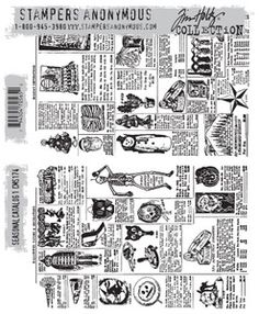 Tim Holtz Cling Rubber Stamps SEASONAL CATALOG 1 cms174 at Simon Says STAMP!