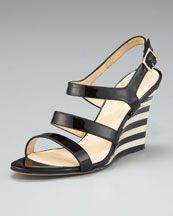 X13GL kate spade new york cindy striped-wedge sandal