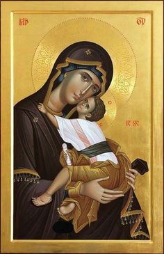 Virgin and Child // Mary and Jesus Christ // Mater Dei // Religious Images, Religious Icons, Religious Art, Byzantine Icons, Byzantine Art, Blessed Mother Mary, Blessed Virgin Mary, Architecture Religieuse, Church Icon