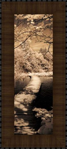 A Quiet Stroll II by Ily Szilagy A Quiet Stroll II by Ily Szilagy Framed print with Acrylic Finish rather than glass. Acrylic finish will give this print the look and feel of an original painting.