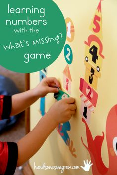 Learning numbers with the 'What's Missing?' game - great for recognizing numbers