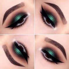 Green eyeshadow ❤ liked on Polyvore featuring beauty products, makeup, eye makeup and eyeshadow #greeneyeshadows