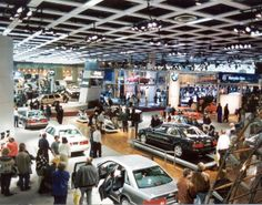 The clash of the German manufacturers! Audi, BMW, and Mercedes-Benz can all be seen in this shot of Cobo Hall.