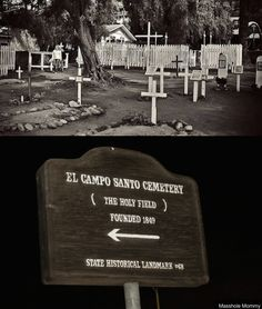 A paved over graveyard near a very haunted house...