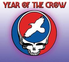 """""""Year of the Crow"""" book by Seattle author Barbara Stoner, which paints a portrait of coping with life in a post apocalyptic world, set to a faint background of music of the Grateful Dead."""