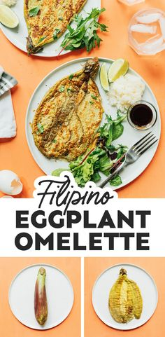 This Filipino Eggplant Omelet recipe (or Tortang Talong) has just 5 ingredients and is a delicious way to sneak veggies into your morning meal! #filipino #omelet #omelette #eggplant #brunch #breakfast #vegetarian Healthy Vegetarian Breakfast, Best Vegetarian Recipes, Healthy Recipes On A Budget, Vegetarian Entrees, Healthy Food Options, Healthy Meals For Two, Budget Meals, Asian Recipes, Morning Food
