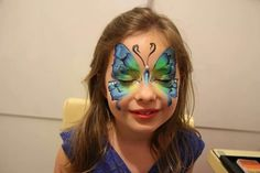 Amazing one stroke face paint butterfly by Nurit Pilchin. face painting ideas for kids Face Painting Images, Girl Face Painting, Face Painting Designs, Painting For Kids, Body Painting, Face Paintings, Paint Designs, Butterfly Face Paint, Butterfly Art