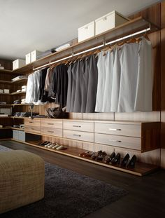 Open concept shelving for a seriously functional open closet system - dream closet storage