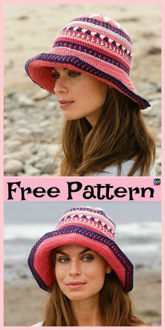 15 Amazing Crocheted Sun Hat Free Patterns d8cf956206e6